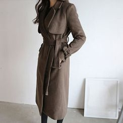 Hello sweety - Wool Blend Coat with Sash