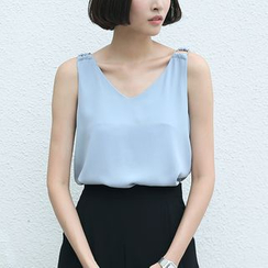 Sens Collection - V-Neck Chiffon Tank Top