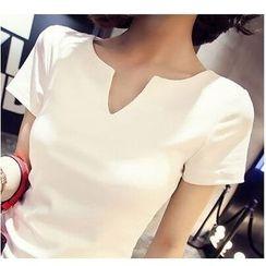MayFair - Notch Neck Short-Sleeve T-Shirt