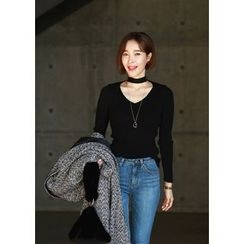 ssongbyssong - Cutout-Front Knit Top
