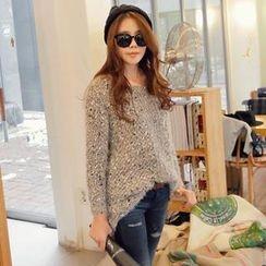 REDOPIN - Mélange Knit Sweater