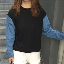 Dute - Denim Sleeve Pullover