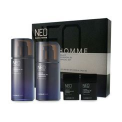 The Face Shop - Neo Classic Homme Black Essential 80 Set: Toner 130ml + 30ml + Emulsion 110ml + 30ml