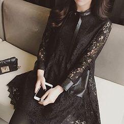 Fashion Street - Long-Sleeve Lace Dress