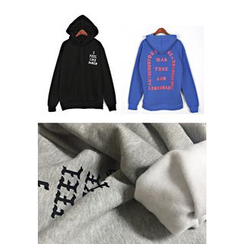 REDOPIN - Hooded Lettering Print Pullover