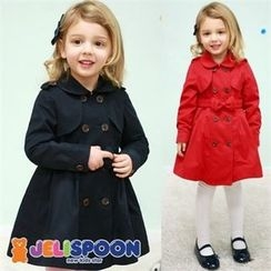JELISPOON - Girls A-Line Trench Coat with Belt
