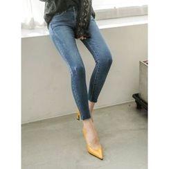 LOLOten - Fray-Hem Skinny Jeans