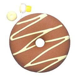 Zumreed - Zumreed Donuts Earphone (Cord Wrap + Earphones) (Milk Chocolate)