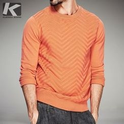 Quincy King - Pattern Knit Pullover