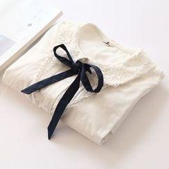 布丁坊 - 蝴蝶结领衬衫