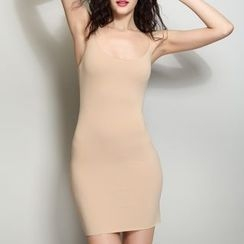INNE - 纯色吊带裙