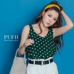 PUFII - Polka Dot Tank Top