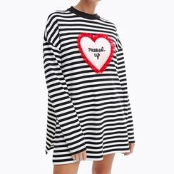 Obel - Heart Stripe Long-Sleeve T-shirt