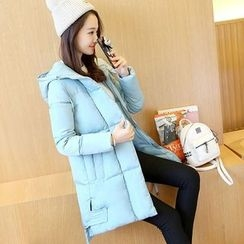 Cobogarden - Hooded Long Padded Coat