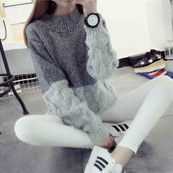 Qimi - Cable Knit Chunky Sweater