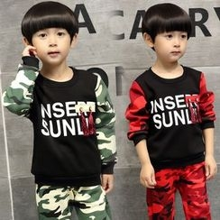 SEE SAW - Kids Set: Camouflage Pullover + Pants