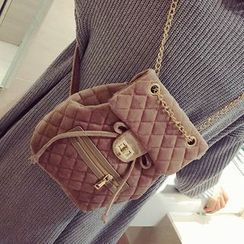 Youme - Chain Strap Quilted Backpack