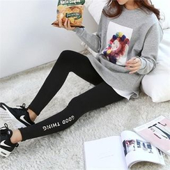 PEPER - Set: Printed T-Shirt + Lettering Leggings