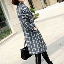 Jiuni - Plaid Long Coat