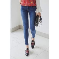 migunstyle - Washed Skinny Jeans