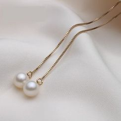 ViVi Pearl - Freshwater Pearl Threader Earrings