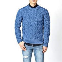 THE COVER - Wool-Blend Cable-Knit Sweater