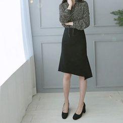 Hello sweety - Asymmetric-Hem A-Line Skirt