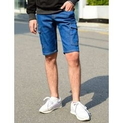 STYLEMAN - Cargo-Pocket Denim Shorts
