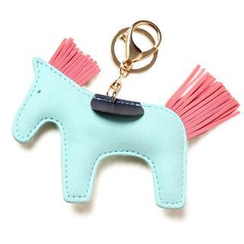 Princess Carousel - Faux-Leather Horse Key Ring