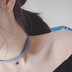 True Glam - Denim  Choker