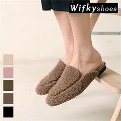 Wifky - Fleece Flat Mules