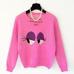 Cotton Candy - Eyes Print Sweater