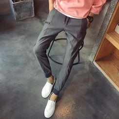 Besto - Drawstring Straight-Leg Pants