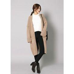 J-ANN - Wool Blend Open-Front Cardigan