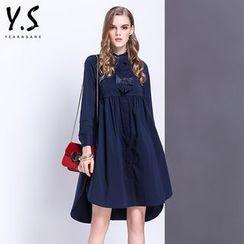 Y:Q - 飾蝴蝶結襯衫長裙