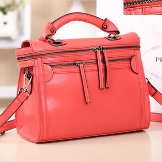 Miss Sweety - Faux-Leather Zip Satchel