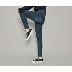 HOTPING - Brushed Fleece Lined Skinny Jeans