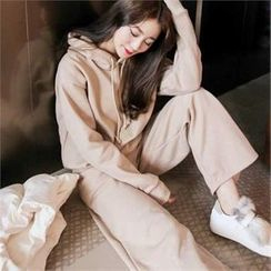 QNIGIRLS - Set: Hooded Brushed Fleece Sweatshirt + Sweatpants