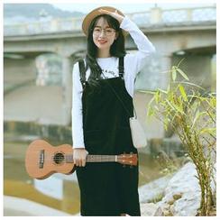 sansweet - 灯芯绒背带连衣裙