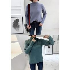 Miamasvin - Mock-Neck Knit Top