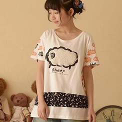 Moriville - Sheep Appliqué T-Shirt