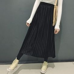 Lyrae - Accordion Pleat Maxi Skirt