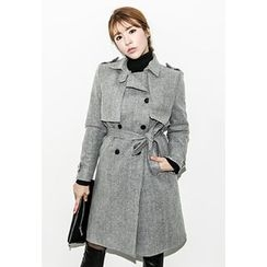 INSTYLEFIT - Double-Breasted Trench Coat