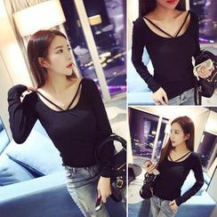 QZ Lady - Strappy Long Sleeved T-shirt