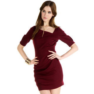 YesStyle Z - Asymmetric Neckline Dress