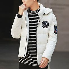 Bay Go Mall - Applique Hooded Down Jacket