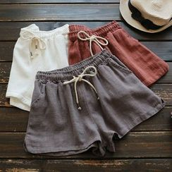 YOYO - Drawstring-Waist Shorts