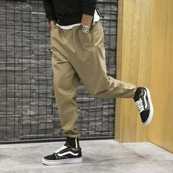 Bay Go Mall - Buttoned Jogger Pants