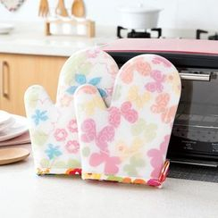 Home Simply - Silicon Floral Oven Glove (1 pc)