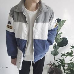 qiaqiayes - Color Block Padded Jacket